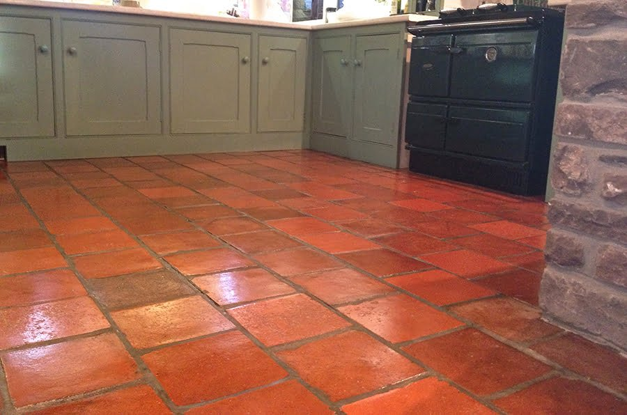 Quarry Tile Kitchen Floors - Cleaning Quarry Tiles - KleanSTONE