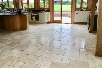 Natural Travertine Kitchen - Travertine Kitchen Floor Tiles - KleanSTONE Travertine Floor Cleaner