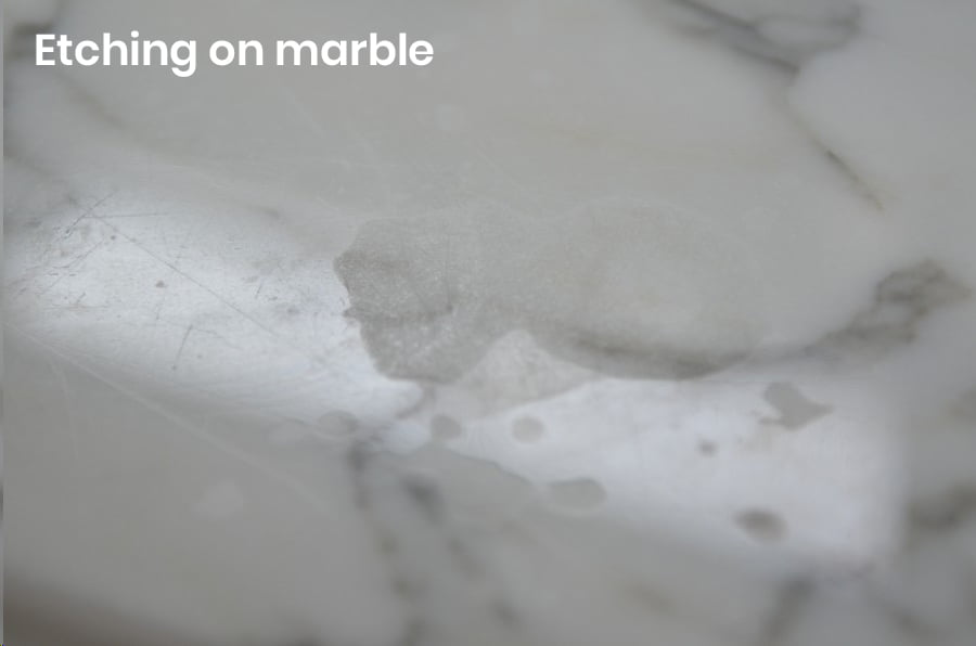 Marble Floor Etching - Marble Staining - Marble Sealing - KleanSTONE Stone Floor Cleaning