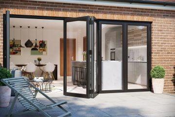 Seamless Patio Kitchen Transition - Stone Patio - External Stone Floor - Bifold Doors - KleanSTONE